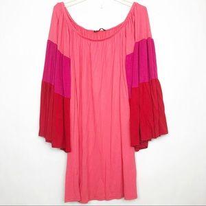 James & Joy Lucca off the Shoulder pink Dress